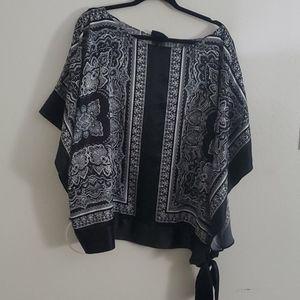Silky kimono top